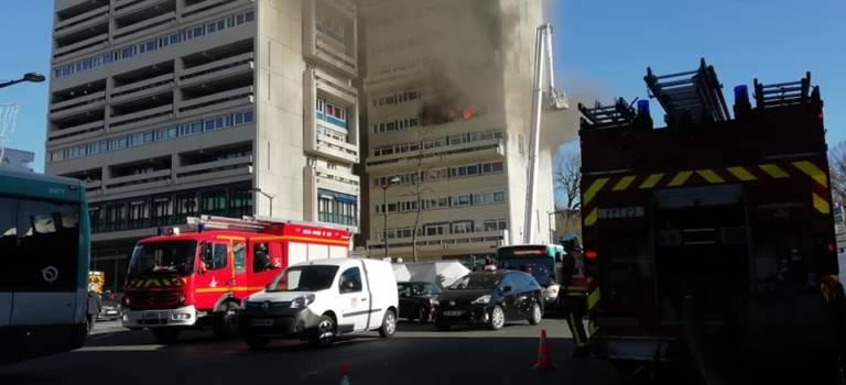 Ivry-sur-Seine : incendie dans la tour Lénine