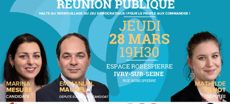 Réunion publique sur les Européennes avec les candidat.e.s de la France Insoumise