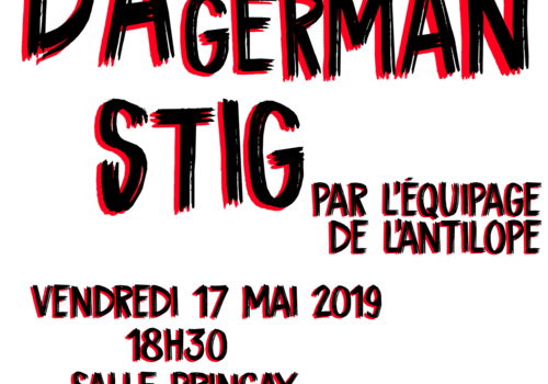 Stig Dagerman : spectacle à la croisée des arts à Valenton
