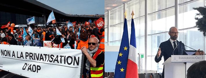 Aéroport: l'inauguration d'Orly 3 côté face et côté pile