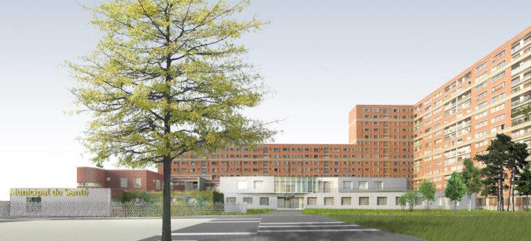 Inauguration de l'extension du Centre municipal de santé à Ivry-sur-Seine