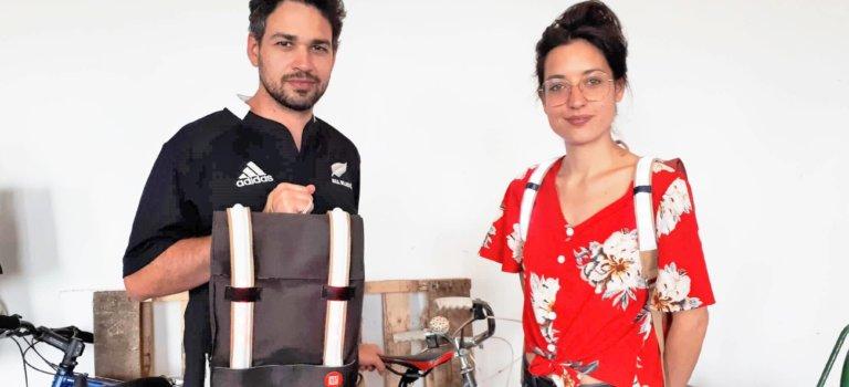 A Arcueil, Galanck invente le sac à dos GPS pour les vélos