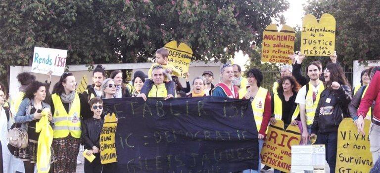 Manifestation de gilets jaunes à Villejuif