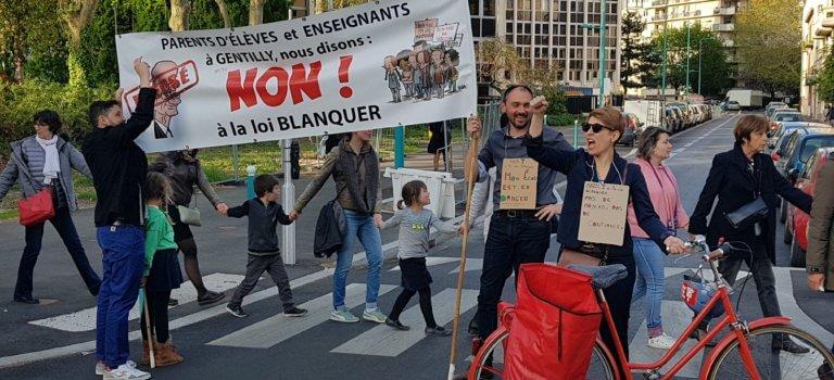 Semaine de mobilisation contre la loi Blanquer en Val-de-Marne