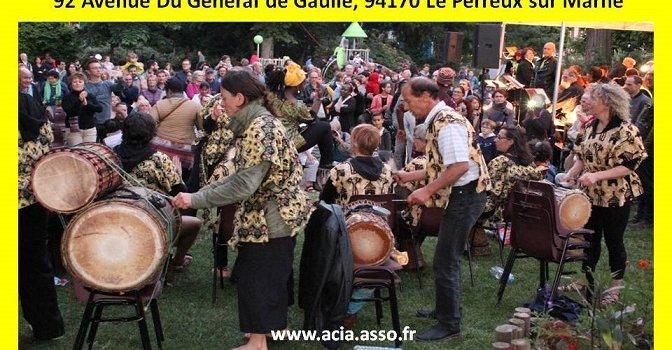 Percussion et danse avec ACIA au Perreux-sur-Marne