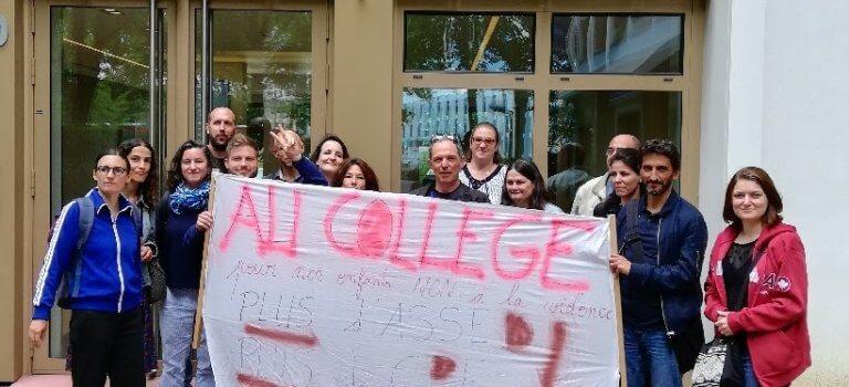 Grève pour la vie scolaire au collège Ronis de Champigny-sur-Marne