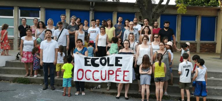 Occupation de nuit de l'école Jules Ferry à Arcueil