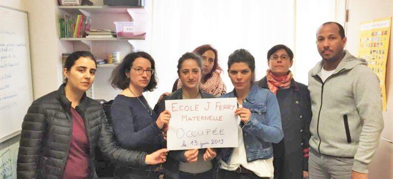 Occupation de l'école maternelle Jules Ferry d'Arcueil
