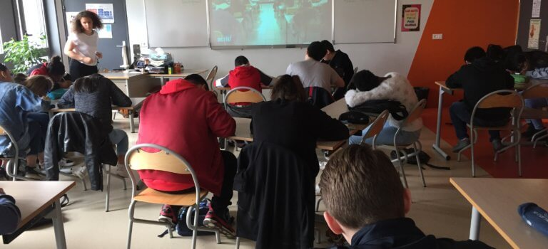 Dictée nationale au collège Laplace à Créteil