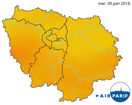 Episode de pollution à l'ozone ce mercredi en Ile-de-France