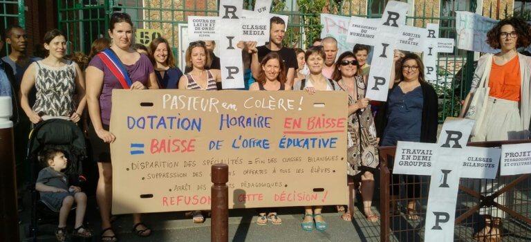 Val-de-Marne: passage du brevet et mobilisations devant des collèges