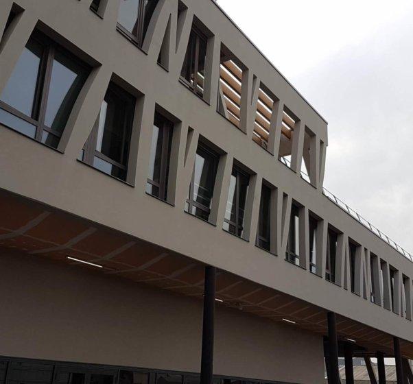 college josette et maurice audin vitry sur seine structure exterieure poteaux 2