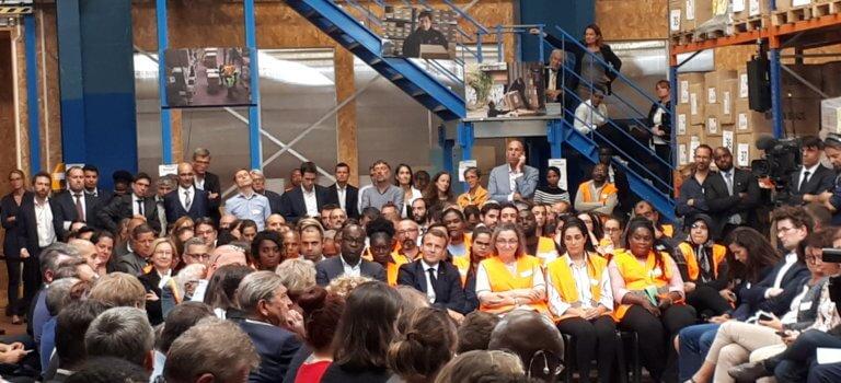 Bonneuil-sur-Marne: Macron promet 100 000 postes supplémentaires en insertion