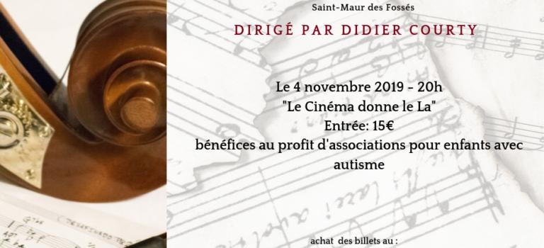 Concert Caritatif «Le cinéma donne le La» à Saint-Maur-des-Fossés