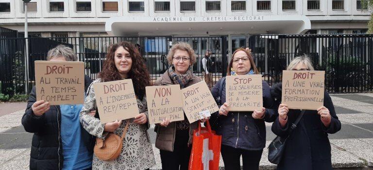 Accompagnement du handicap à l'école : la colère des AESH à Créteil