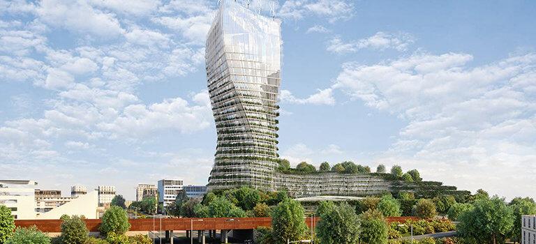 A Créteil l'Echat, la tour Arbre de vie de 100 mètres de haut va s'élancer