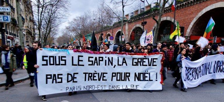 Nouvelle manifestation suivie à Paris ce 17 décembre