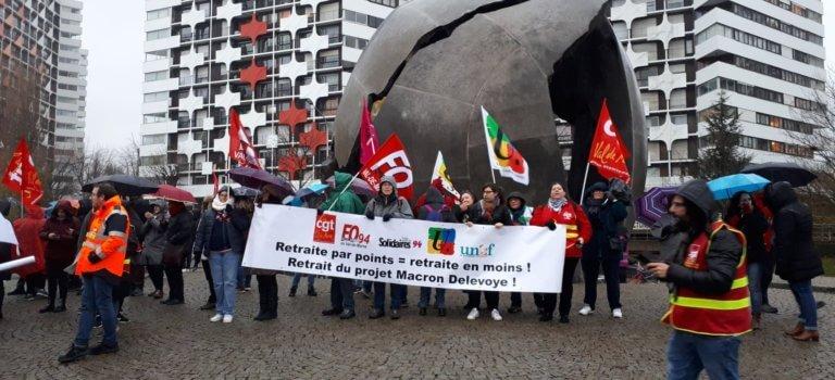 49.3 et retraites: les syndicats du Val-de-Marne ripostent