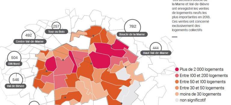 Transactions immobilières en Val-de-Marne: repli sur le neuf en 2018