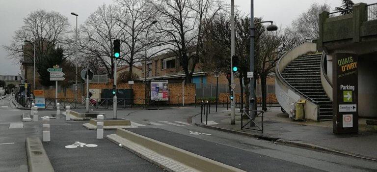 Une nouvelle piste cyclable à Ivry-sur-Seine