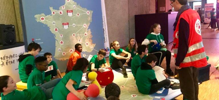 La Croix rouge sensibilise les cadets de la République au réchauffement climatique