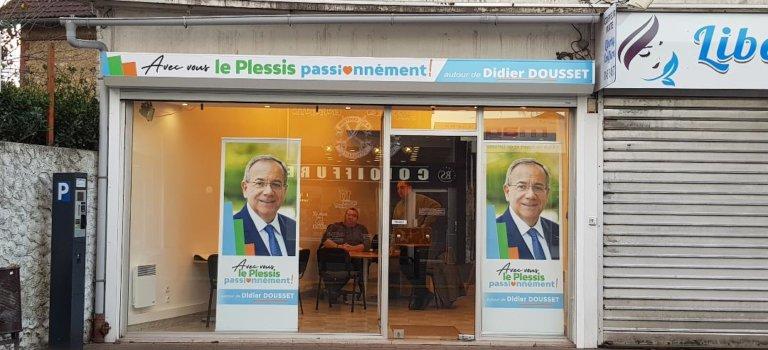 Municipales au Plessis-Trévise : inauguration de la permanence de Didier Dousset
