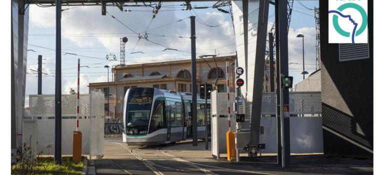 Visite du site de maintenance et de remisage du tramway T7-RATP à Vitry-sur-Seine