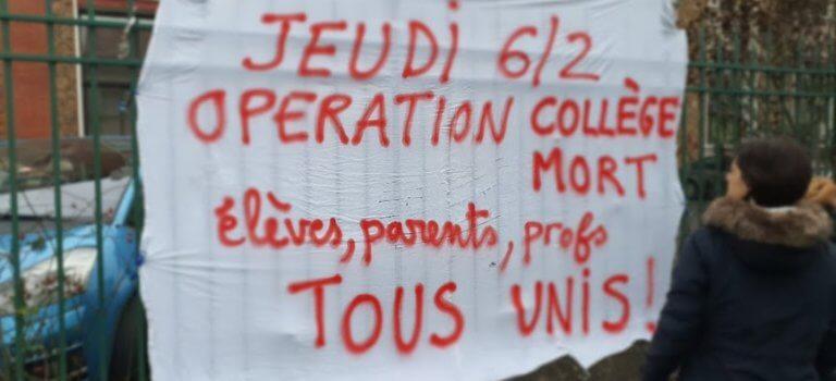 Villejuif: opération collège mort à Pasteur