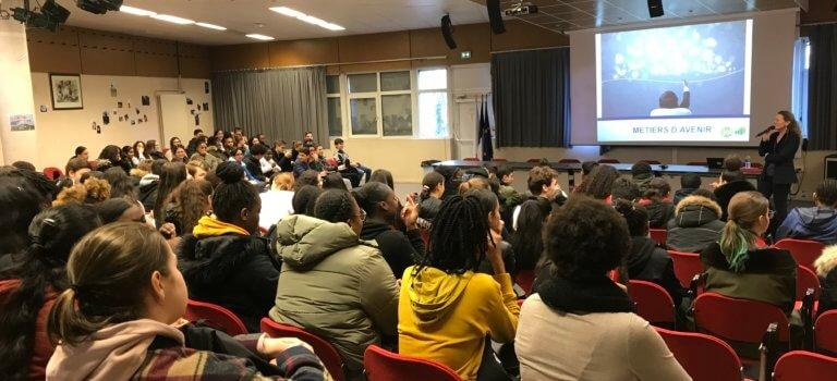 Lycée Marx Dormoy à Champigny-sur-Marne: succès du forum des métiers pour ne pas louper Parcoursup