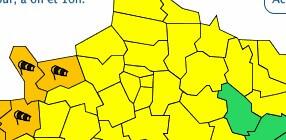 Tempête Dennis: vigilance jaune en Ile-de-France