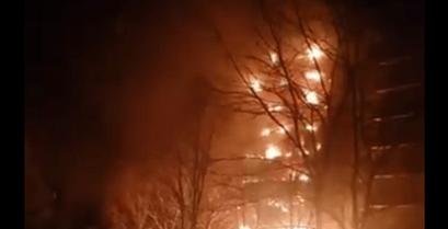 Incendie impressionnant à Champigny-sur-Marne