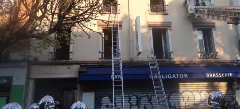 Incendie à Vitry-sur-Seine: sauvetage à l'échelle de 5 personnes