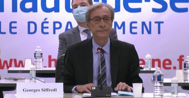 Georges Siffredi, élu président des Hauts-de-Seine