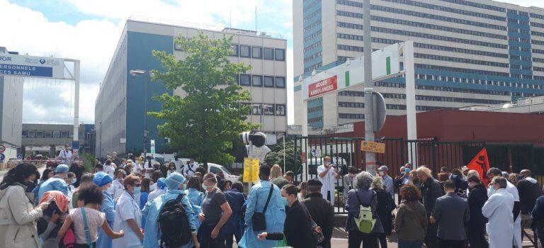 Créteil : les soignants lancent la manif du 16 juin devant  l'hôpital Mondor