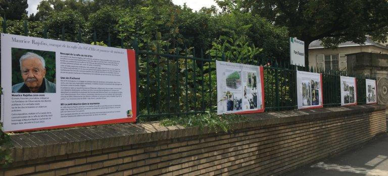 Exposition hommage à Maurice Rajsfus à Cachan