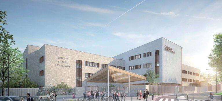 Villeneuve-le-Roi: le futur collège Brassens en images