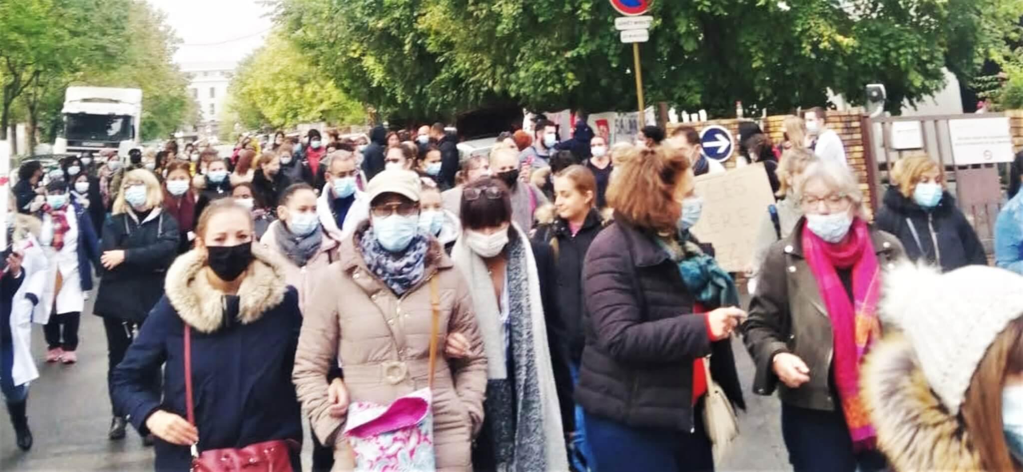 Les salariés des laboratoires Biopath Unilabs en grève
