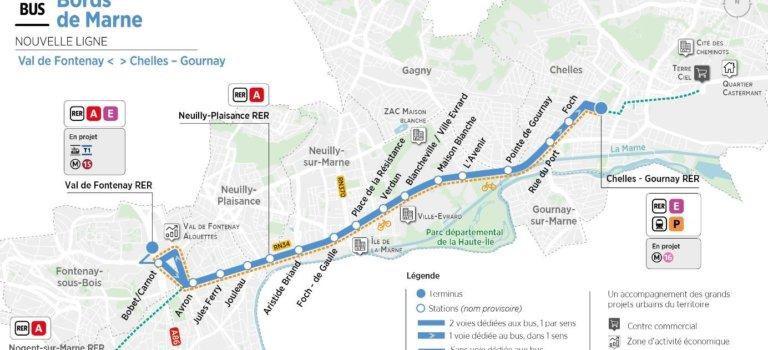 Projet de liaison bus des bords de Marne Val-de-Fontenay- Chelles