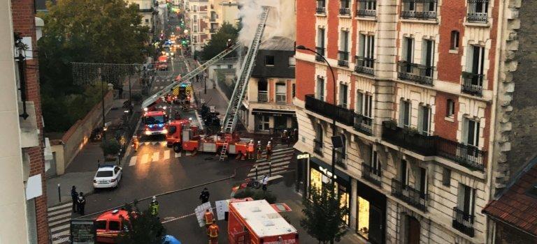 Incendie à Saint-Mandé