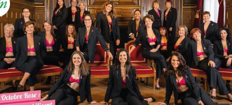 Saint-Maur-des-Fossés: les élues municipales en soutien-gorge pour Octobre rose