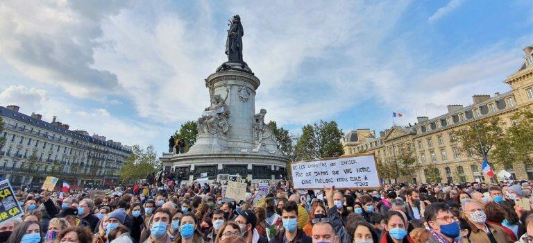 Place de la République: la foule était Samuel Paty, et Charlie