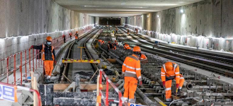 Noisy-Champs: les premiers rails du Grand Paris Express ont été posés