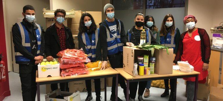 Villetaneuse:  des colis alimentaires contre la précarité étudiante