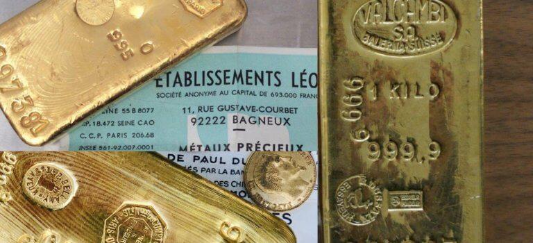 12 lingots d'or à enchérir à la salle des ventes de Nogent-sur-Marne