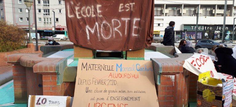 Vitry-sur-Seine: colère contre les absences non remplacées à l'école