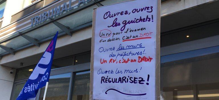 Montreuil: mobilisation au tribunal pour obtenir des RDV en préfecture
