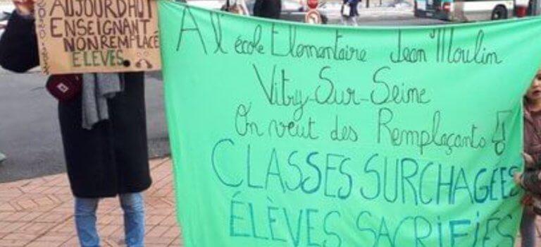 Milliers de jours/enseignants non remplacés en Val-de-Marne: rassemblement à Créteil