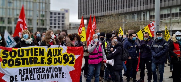Hauts-de-Seine: manif de soutien au responsable Sud Poste 92 licencié