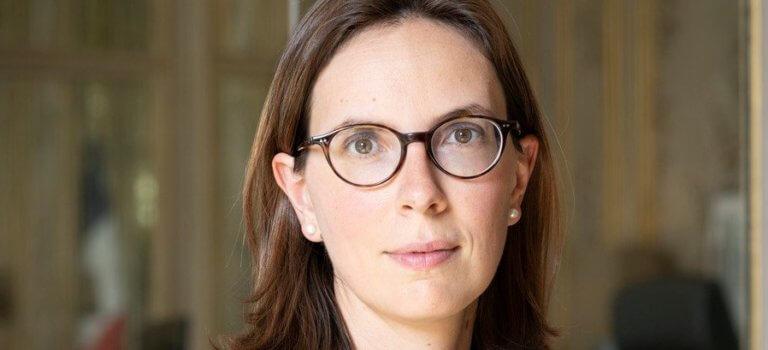 Saint-Mandé: la ministre Amélie de Montchalin à l'IGN