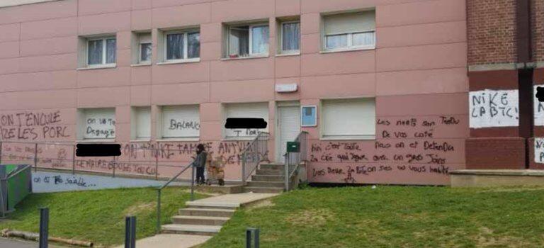 L'Haÿ-les-Roses: nouveaux tags anti-police aux Pervenches